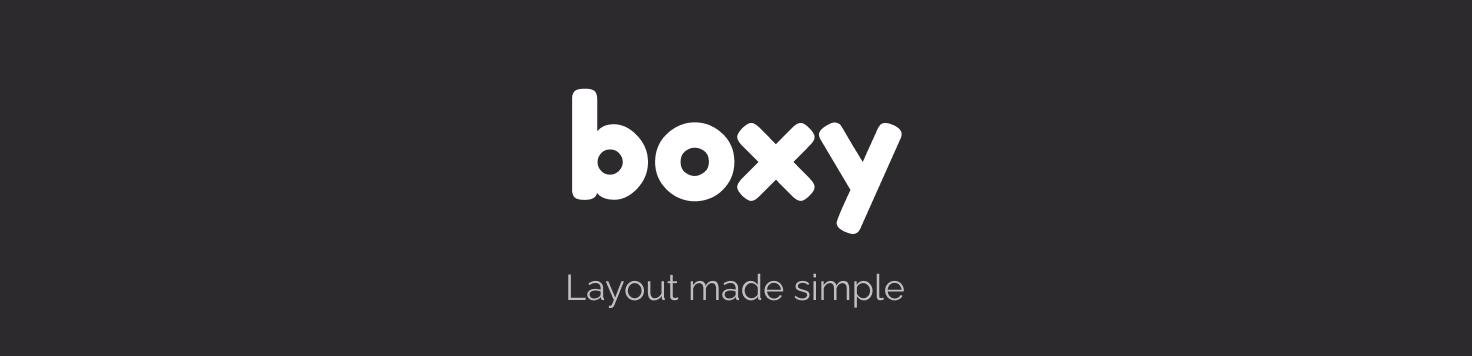 boxy, Layout made simple